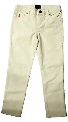 Polo Ralph Lauren Girls Corduroy corded Jeans Trousers Skinny Pants 7 years HG16