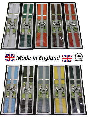 Relco Classic 1/2 Inch Mod Skinhead Fully Adjustable Braces Lots of Colours
