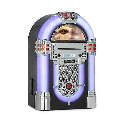 Retro Jukebox Stereoanlage Bluetooth USB MP3 CD Player Radio Tuner Musik System