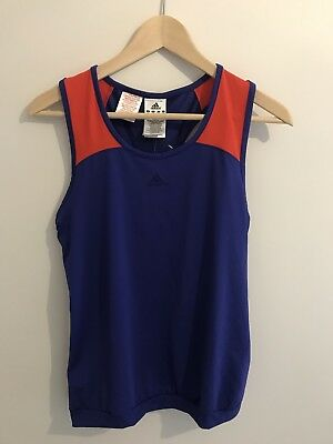 13-14 Years Boys/girls Blue And Orange Adidas Sports Top Brand New With Tags