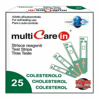 Multicare - CHOLESTEROL STRIPS - for code 23965/66/67 - box of 25 pcs.
