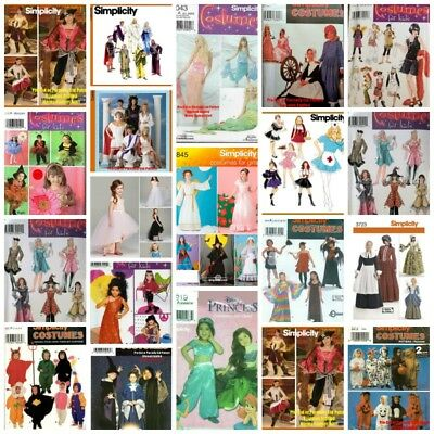 Butterick Halloween Costume Patterns Adults Men Women Teens Kids Babies {Choose}