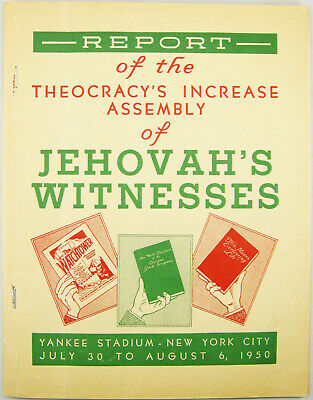 1950 Convention Report Theocracy's Increase release Bible Watchtower Jehovah