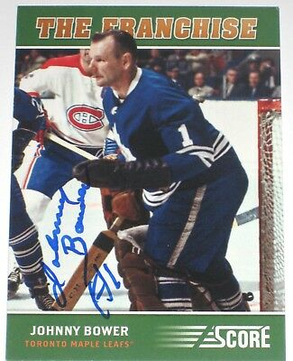 Johnny Bower Signed 12-13 Score Toronto Maple Leafs Card Autograph Auto!