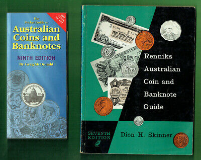 #Kk.    #7.   Lot Of Eight(8)  Old Australian  Coin  & Banknote Catalogue Books
