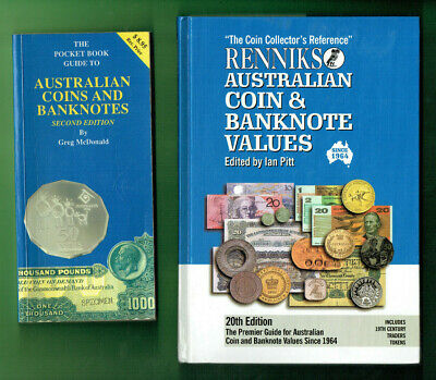 #Kk.    #8.   Lot Of Eight(8)  Old Australian  Coin  & Banknote Catalogue Books