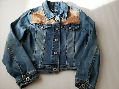 Girls' Jean Jackets - Cat & Jack size 1012 Good conditions |gold details