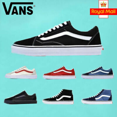 VAN Old Skool Skate Shoes Black/White All Size Classic Canvas Sneakers 2019 AU//