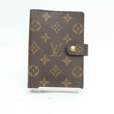 Authentic Louis Vuitton Diary Cover Agenda PM Browns Monogram 1200070