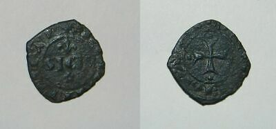 Medieval Italy : Charles I  (1266-1285) Billon Denaro - Messina - Vf - Scarce