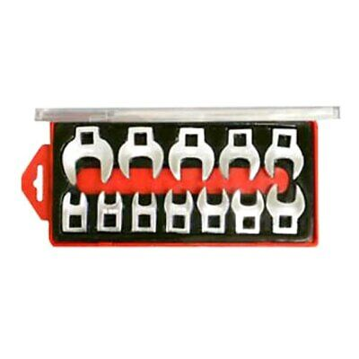 """V8 Tools 12-Piece 3/8"""" Drive Metric Alloy Steel Open End Crowfoot Wrench Set"""