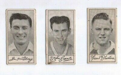 3 1950's Famous Footballers cards by Barratt & Co Ltd, 47 48 and 49