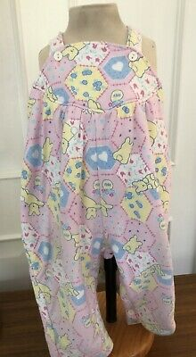 Vintage Pink Dungarees Age 6-12 Months