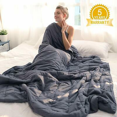 """Cotton Weighted Blanket for Adults Reduce Anxiety Stress 60"""" x 80"""" 25 lbs"""