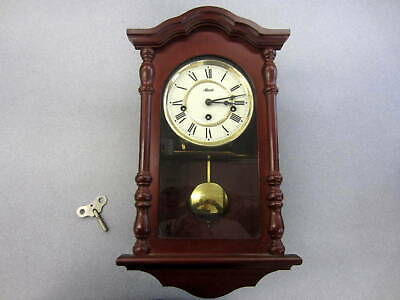 "CH  Hermle mechanical pendulum chiming clock, 6"" face dia good working"