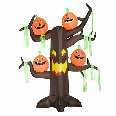HOMCOM 8' Tall Outdoor Lighted Airblown Inflatable Halloween Decoration - Haunte
