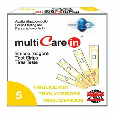 Multicare - TRIGLYCERIDES STRIPS - for code 23965/66/67 - box of 5 pcs.