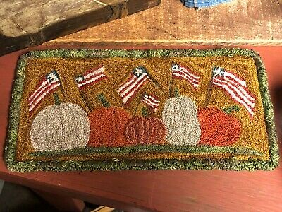 Primitive Punch Needle Pattern ~ Autumn In America
