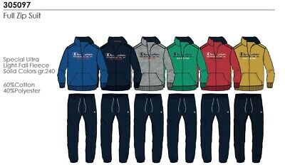 TUTA JUNIOR IN FELPA ZIP LUNGA CON POLSINO AL FONDO CHAMPION Full Zip Suit 30509