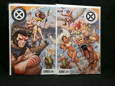 House of X #5 + Powers of X #5 Connecting Variant Cover Set Marvel Comics 2019