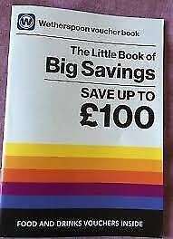 Wetherspoon Vouchers Book (All Vouchers Shown) Low Price - Uk Seller!!