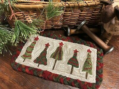 Primitive Punch Needle Pattern ~ Festival Of Trees