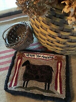 Primitive Punch Needle Pattern ~ Have You Any Wool