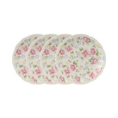 Pfaltzgraff Tea Rose Set of 4 Accent Luncheon Plates