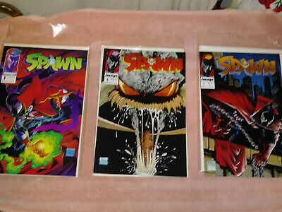Spawn #1 4 5 Early Issue Image Todd Mcfarlane Comic Lot ~High Grade