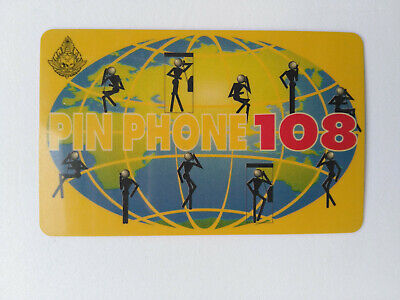 1996 Old Rare Collectible Thailand TOT Pin Phone 108 Prepaid card  Price 240 THB