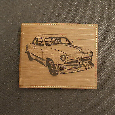 Personalised Fiat 500 Wallet Classic Car Leather Mens Dad Gift CL06