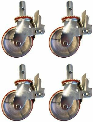 4-Pack Scaffolding Shaft Swivel Casters (Round Shaft) (6-INCH)