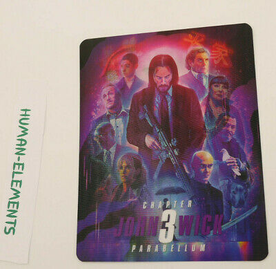 JOHN WICK 3 Parabellum - 3D LENTICULAR Flip Magnet Cover TO FIT bluray steelbook