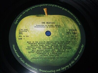 The Beatles White Album Complete Top Opening