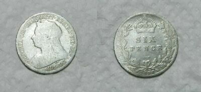 Great Britain : Silver Sixpence 1896 - Queen Victoria