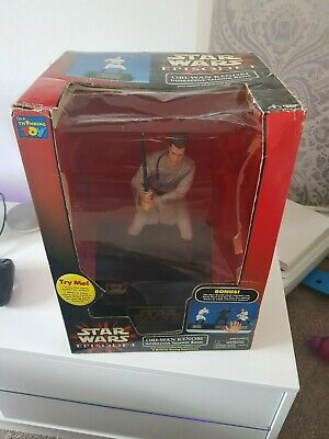 Star Wars Episode 1 Obi Wan Kenobi Interactive Talking Bank RARE CHRISTMAS GIFT