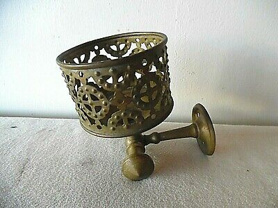 Antique Brass  Wall Mount Bathroom Glass & Towel Holder Silvers Trade Mark Ny
