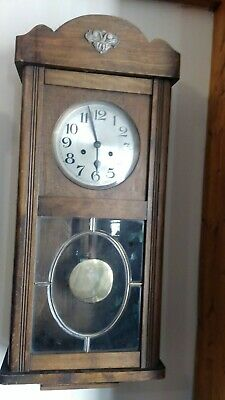 VINTAGE OAK CASED JUNGHANS  WALL CLOCK  circa 1940
