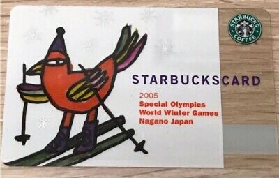 Starbucks Japan coffee Olympic Winter 2005 card Limited Pin Intact new rare f/s