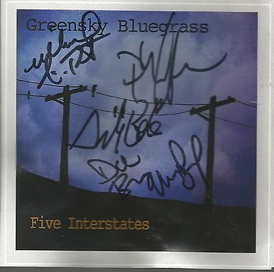 Five Interstates * by Greensky Bluegrass (CD, 2016, CD Baby) Original Signed