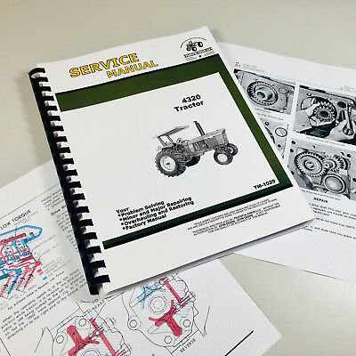 Factory Service Manual For John Deere 4320 Tractor Technical Shop Book Color Pgs