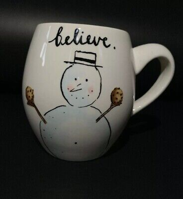 RAE DUNN Snowman Mug - Believe Let It Snow - NEW WITH TAGS