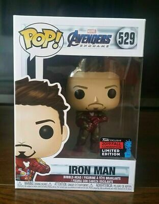 Funko Pop Iron Man Gauntlet Marvel Avengers Endgame Tony Stark NYCC 2019 Shared