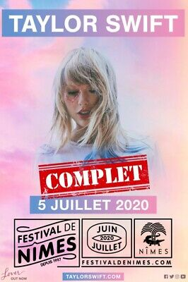 Concert Taylor Swift Nimes 5/07/2020 - 2 places