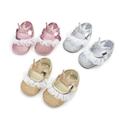 Cute Baby Girls Newborn Baby Casual First Walker Shoes Toddler Prinsess Shoes US