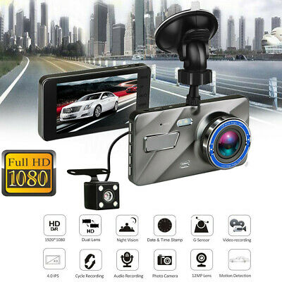 4'' Dash Cam FHD 1080P Front and Rear Car Dashboard Camera 170° DVR Recorder AU