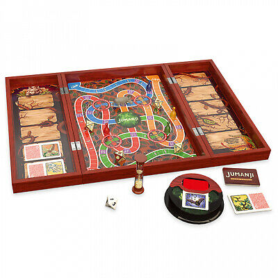 Deluxe Jumanji Classic Retro Board Game Real Wooden Box Toys Puzzle Family Party
