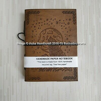 Indian Handmade Crawling Wolf The Moon Paper Diary Cotton Paper Sketchbook Arts