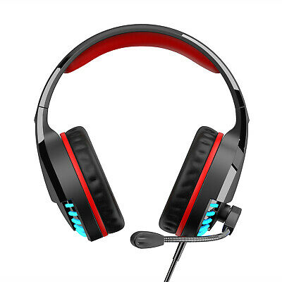 Black/Red Over Ear With Dolby 7.1 Gaming Headset Surround Sound ONIKUMA K8 New