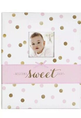 Carter's Sweet Sparkle My First Years Bound Memory Book for Baby Girl- Pink/Gold